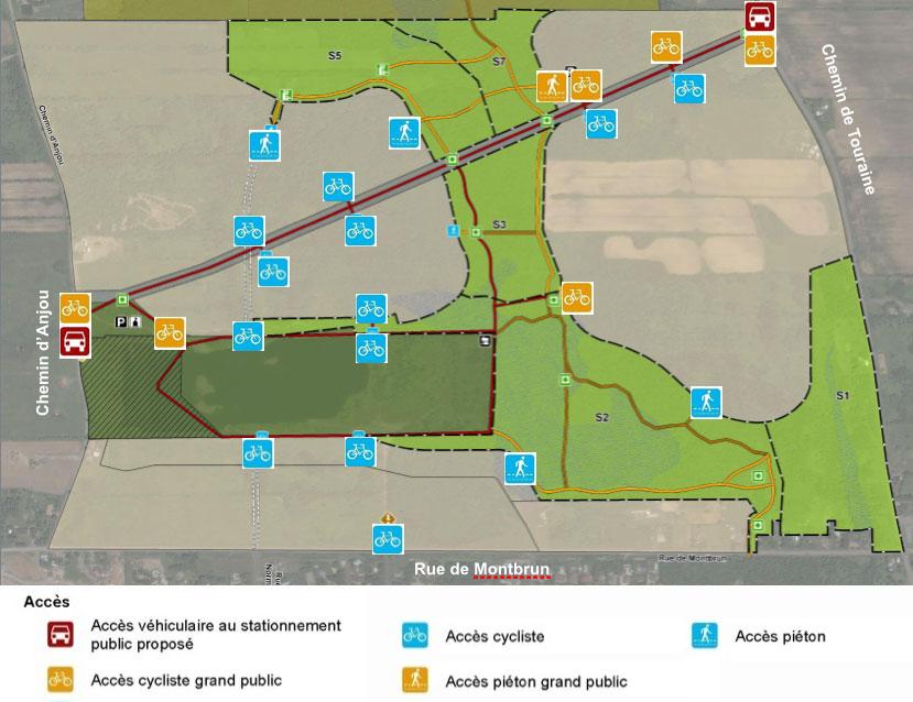 Carte des sentiers cyclables